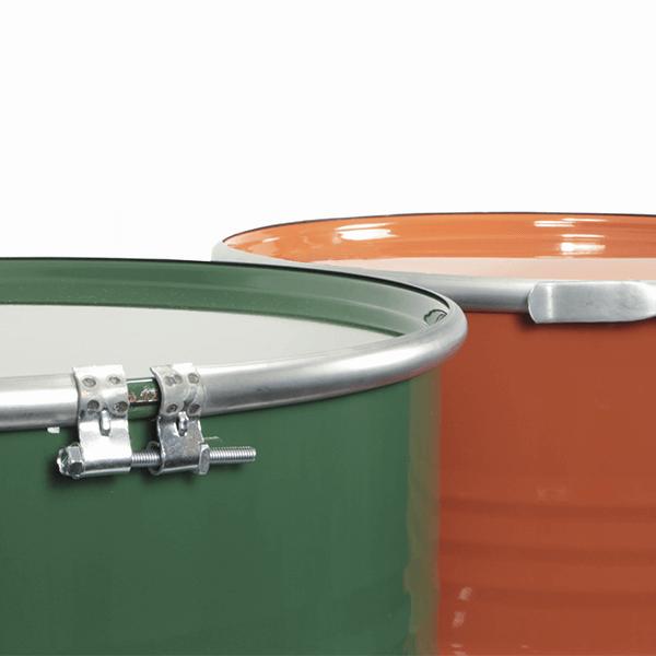 Tambor 200 Litros Refabricado Linha alimentícia verde e laranja